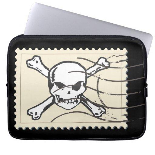 Skull Stamp 4 Computer Sleeve