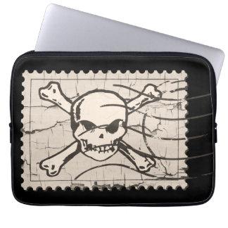 Skull Stamp Computer Sleeve