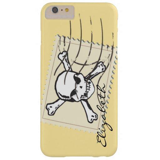 Skull Stamp Custom Monogram Barely There iPhone 6 Plus Case