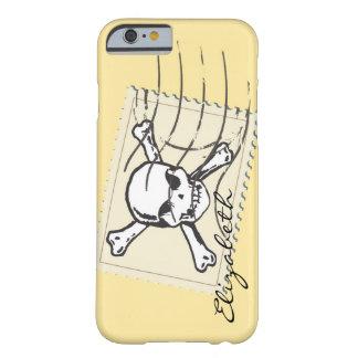 Skull Stamp Custom Monogram Barely There iPhone 6 Case