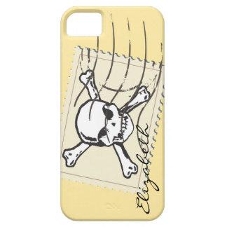 Skull Stamp Custom Monogram iPhone 5 Covers