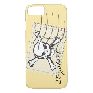 Skull Stamp Custom Monogram iPhone 7 Case