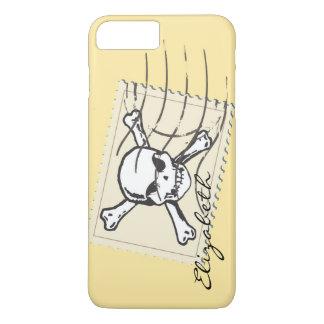 Skull Stamp Custom Monogram iPhone 7 Plus Case