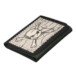 Skull Stamp Leather Wallet