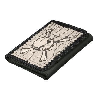 Skull Stamp Tri-fold Wallet