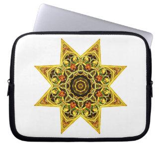 Skull Star computer laptop sleeve