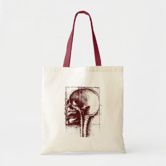 skull study canvas bag