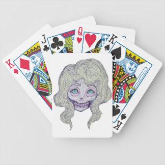 skull sugar pastel -her26- bicycle playing cards