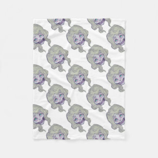 skull sugar pastel -her26- fleece blanket