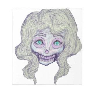 skull sugar pastel -her26- notepad