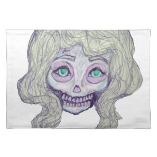 skull sugar pastel -her26- placemat