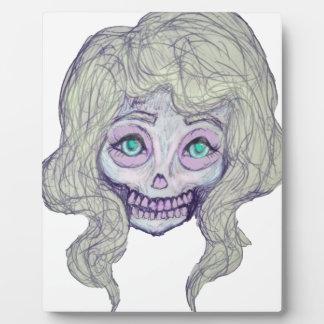 skull sugar pastel -her26- plaque