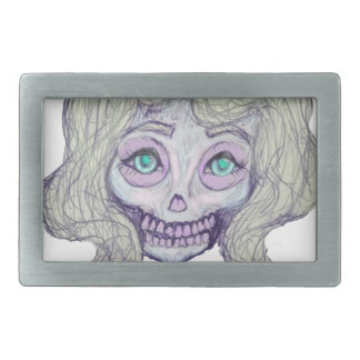 skull sugar pastel -her26- rectangular belt buckle