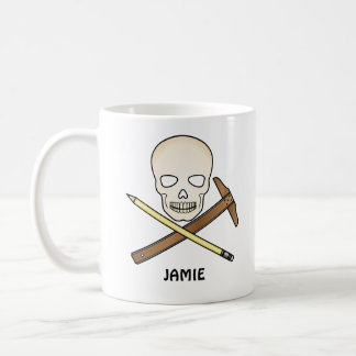 Skull & T-Square Coffee Mug