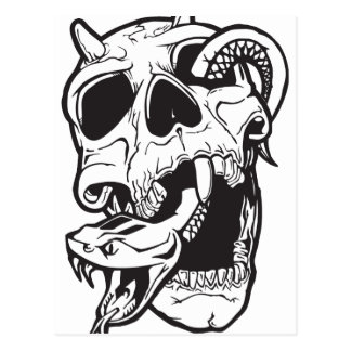 Skull Tattoo Postcard