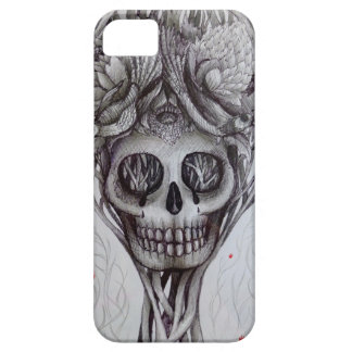 skull tattoo style iPhone tree roots head art Case For The iPhone 5