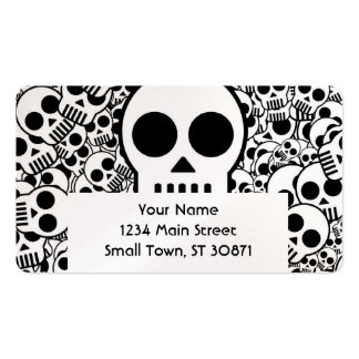 Skull Texture Black White Surface Pack Of Standard Business Cards