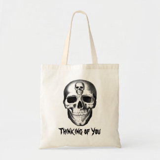 Skull Thinking of You Tote Treat  Bag Personalize