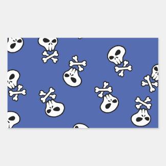 skull tile rectangular sticker