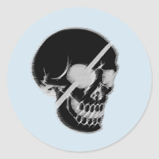 Skull to sticker