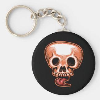 Skull Tongue Halloween Keychain
