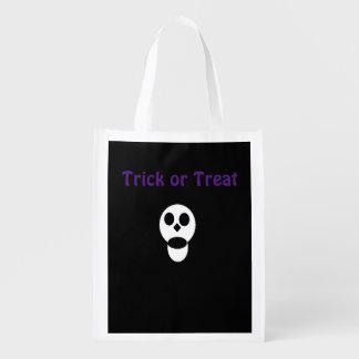 Skull Trick or Treat Bag