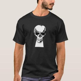 Skull Trough a Keyhole T-Shirt