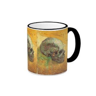 Skull, Vincent van Gogh, Vintage Impressionism Art Ringer Mug