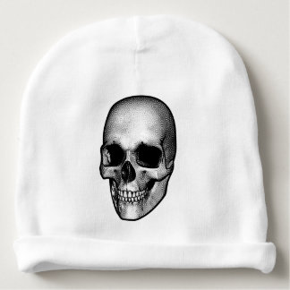 Skull Vintage Style Drawing Baby Beanie