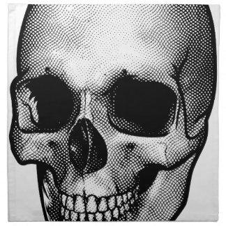 Skull Vintage Style Drawing Napkin