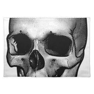 Skull Vintage Style Drawing Placemat