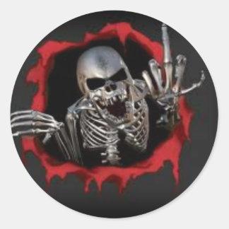 Skull Way Round Sticker