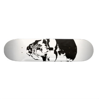 Skull White Custom Skateboard