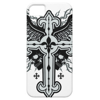 Skull Winged Cross Barely There iPhone 5 Case