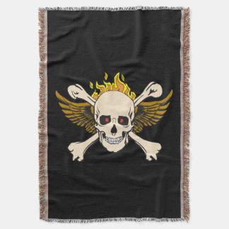 Skull Wings Crossbones Fire