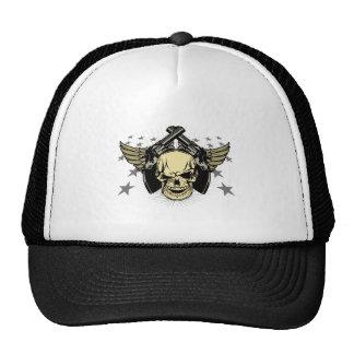 Skull Wings Guns Stars Trucker Hat