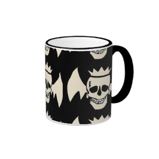 Skull Wings Ringer Coffee Mug