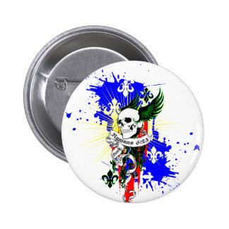 Skull Wings SK8Board Shirt Button