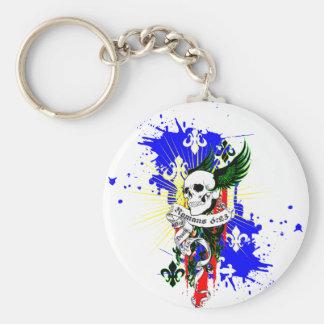 Skull & Wings SK8Board Shirt Keychain