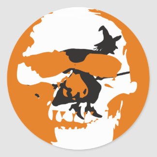 Skull & Witch #2 Round Sticker
