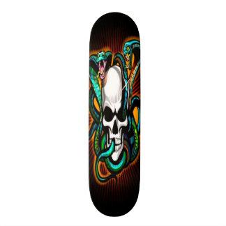 Skull with 2 Cobras Skateboard