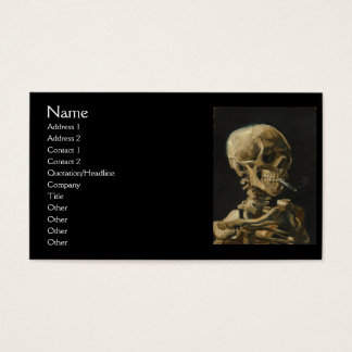 Skull with a Burning Cigarette by Van Gogh Business Card