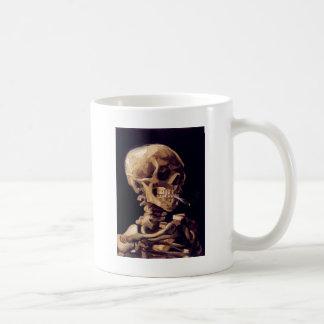 Skull with burning cigarette Painting Van Gogh Coffee Mug