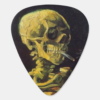 Skull with Burning Cigarette Van Gogh Guitar Pick