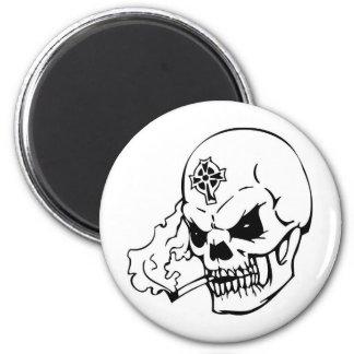 Skull with Celtic Cross Magnets