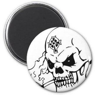 Skull with Celtic Cross Refrigerator Magnets