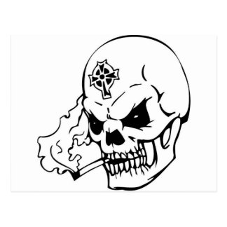 Skull with Celtic Cross Postcard