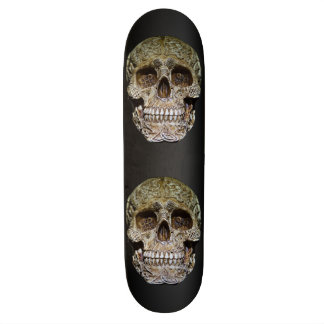 Skull With Celtic Knot Carving Skateboard Deck
