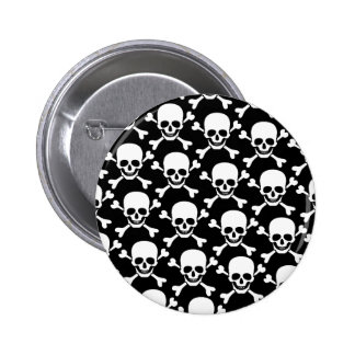 skull with crossbones design 6 cm round badge