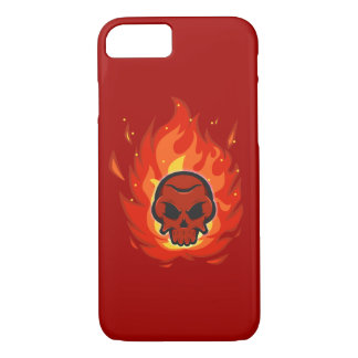 Skull with flame around it iPhone 8/7 case